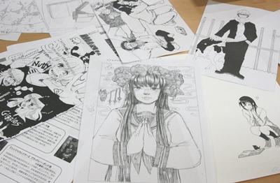 たくさんのイラストが寄せられました。